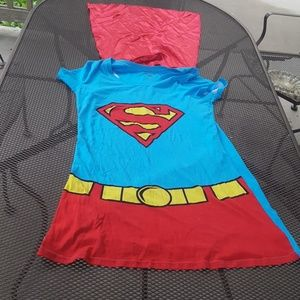 Supergirl t shirt with a cape